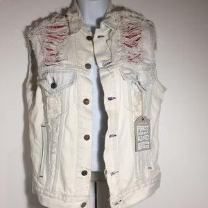 Vintage Furst of a Kind bandana Levi's denim vest
